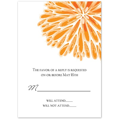 Burst of Love - Tangerine - Response Card and Envelope