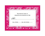 Perfect Paisley - Watermelon - Response Card and Envelope