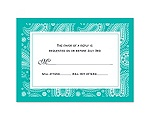 Perfect Paisley - Mermaid - Response Card and Envelope