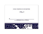 Floral Patterned - Lapis - Response Card and Envelope