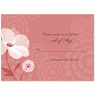 Moonlight Blossoms - Apple - Response Card and Envelope