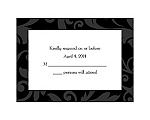 Treasured Jewels Pattern - Black - Response Card and Envelope