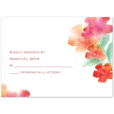Desire - Guava - Response Card and Envelope
