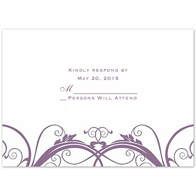 Tender Love - Wisteria - Response Card and Envelope