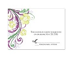Watercolor Floral - Sangria - Response Card and Envelope