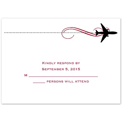 Boarding Pass - Response Card and Envelope