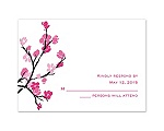Budding Beauty - Response Card and Envelope