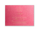 Shining Pearls - Hot Pink Shimmer - Response Card and Envelope