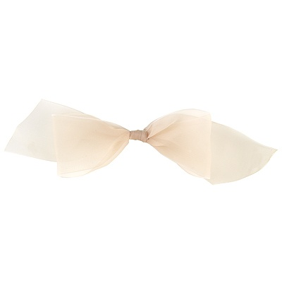 Ecru Chiffon Stick-on Bow