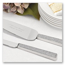 Personalized Band of Light Serving Set