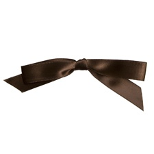 Mocha Stick-on Bow
