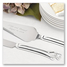 Personalized Entwined Hearts Serving Set