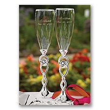 Personalized Tied the Knot Flutes