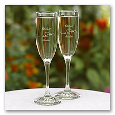 Personalized Swirl Flutes