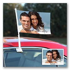 Newlyweds -  Personalized Photo Car Flag