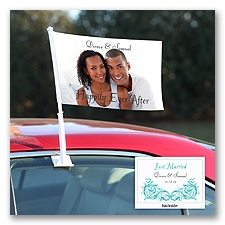 New Status - Personalized Photo Car Flag