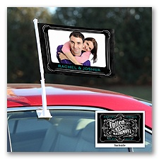 Chalkboard Banner - Personalized Photo Car Flag