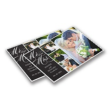 Mr. & Mrs. Personalized Photo Cutting Board - Ebony