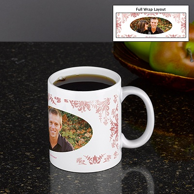 Decorative Damask - Personalized 11oz Photo Mug