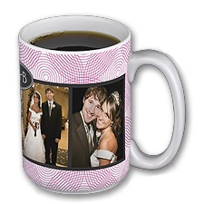 Love in Motion - French Kiss - Personalized 15oz Photo Mug