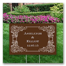 Personalized Vintage Border Yard Sign - Small