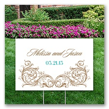 Personalized Ornamental Yard Sign - Small