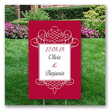 Personalized Flourish Yard Sign - Small