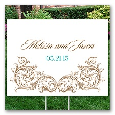 Personalized Ornamental Yard Sign - Medium