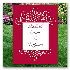 Personalized Flourish Yard Sign - Medium