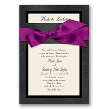Treasured Jewels Border - Onyx & Ecru Invitation