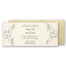 Gorgeous Golden Pocket - Invitation