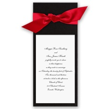 Wrapped in Love - Black Wrap & Bright  White Invitation