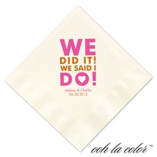Beverage Ecru Napkin - We Did