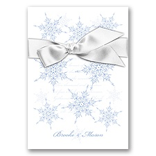 Snowflake Elegance - Bluebird - Invitation