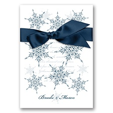 Snowflake Elegance - Peacock - Invitation
