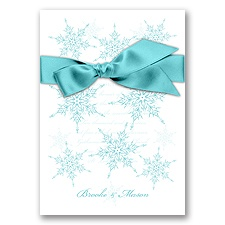 Snowflake Elegance - Pool - Invitation