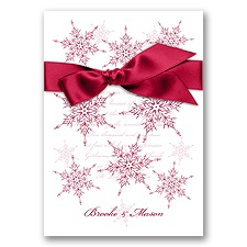 Snowflake Elegance - Apple - Invitation