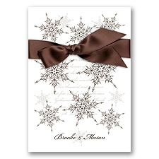 Snowflake Elegance - Chocolate - Invitation