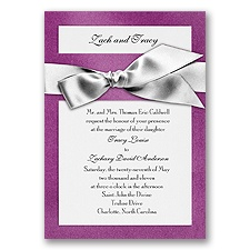 Treasured Gems - Violet & Bright White Invitation