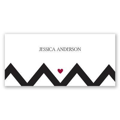 Chevron Sweethearts - Place Card