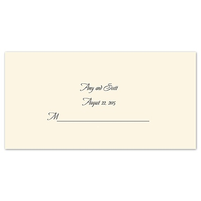 Ecru Place Card