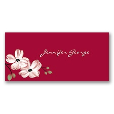 Dogwood Blossoms - Apple - Place Card