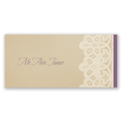 Wrapped In Lace - Place Card
