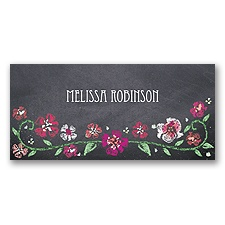 Blooming Chalkboard - Begonia - Place Card