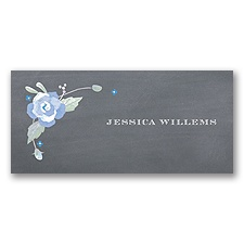 Rustic Bouquet - Bluebird - Place Card