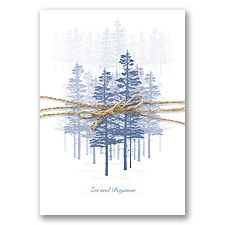 Hidden Forest - Marine - Invitation with Overlay