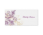 Flourish with Golden Shadow - Sangria - Place Card