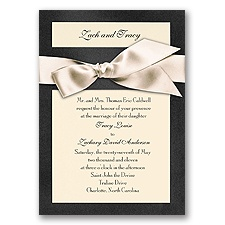 Treasured Gems - Onyx & Ecru Invitation