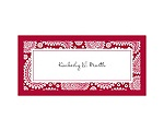 Perfect Paisley Duet - Apple- Place Card