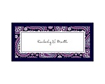 Perfect Paisley Duet - Lapis- Place Card